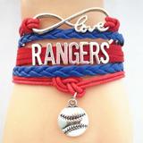 Brazalete Pulsera Infinite Love / Mlb Rangers Texas Beisbol