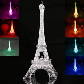 10 Centro De Mesa Torre Eiffel Con Luz 20cms