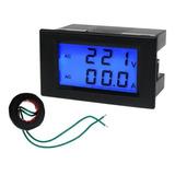 Voltimetro Ac Até 300vac E Amperímetro 0 - 100a + Tc Digital