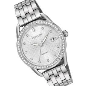 Reloj Dama Citizen Fe6110-55a Ecodrive Acero Con Cristales