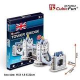 Puzzle 3d Cubic Fun Tower Bridge 32 Piezas
