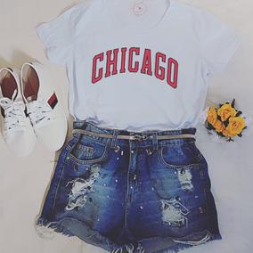 Camisa Camiseta Feminina Chicago Bulls Vermelho Promoção! c90ed9f1941
