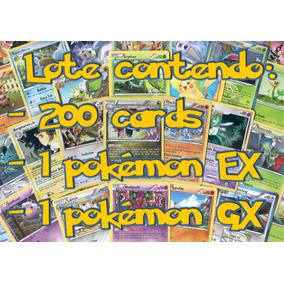 Lote Com 200 Cards Pokemon + Gx E + Ex De Brinde, Novas!!!
