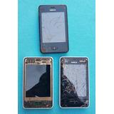 Lote Com 3 Celulares Nokia Asha 501 (leia A Descrição)