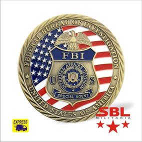 Moeda Comemor. Fbi St. Michel Padroeiro Agente De Segurança