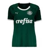 Camisa Do Palmeiras Feminina Baby Look Mulher Time Verdão