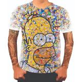 Camiseta Camisa Personalizada Simpsons Bart Homer Desenho 21