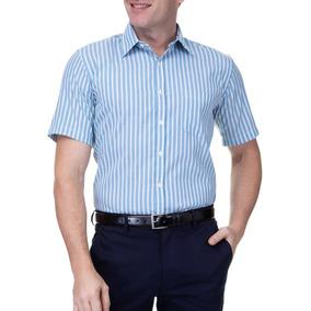 Camisa Social Masculina Camisaria Colombo Manga Curta - Calçados ... 94e3bcfa673