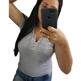 Blusa Feminina Roupas Femininas Barata Tshirt De01