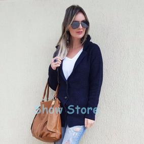 Blusa De Frio Feminina Casaco Cardigan Suéter Lã Trico 2789