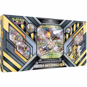 Pokémon Box Coleção Premium Mega Beedrill Ex Moeda E Broche