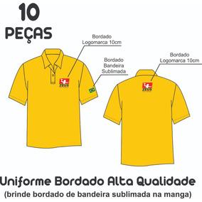 753a84fadd 10 Camisas Polo Mg Curta Com 02 Bordados Peito E Costas 10cm