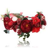 Flower Halo Crown Floral Headpiece Awaytr Bohemia Flower ...