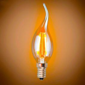 Lâmpada Vela 110v Edison C35l Filamento Led 2200k Lm1757