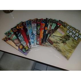 Lote Conan Saga C/ 14 Unid 1,2,3,4,5,6,7,9,10,11,12,13,16,17