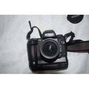 Câmera Analógica Nikon F100 Com Grip E Lente 28-80