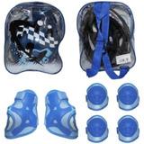 Kit Proteção Infantil Azul Cap/cotov/joelhei/munheq