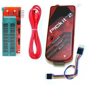 Pickit 2 + Adaptador Zif Programador Gravador Debugger