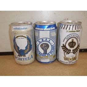 Lata Cerveja Nacional Escola Samba 3 Latas Cheias