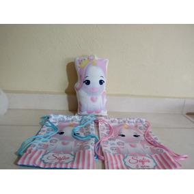 10 Mochilas Personalizadas Unicornio 30x20cn