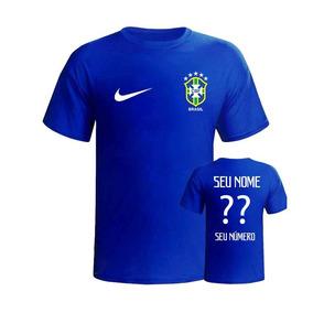 Camiseta Polo Seleção Brasileira Azul 2014 Manga Curta - Camisetas e ... 1197d61c0243f