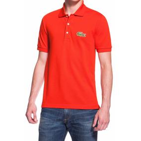 Camisa Polo Lacoste Big Croc - Pólos Masculinas no Mercado Livre Brasil 40dff74225