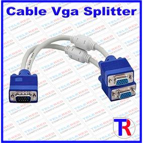 Cable Splitter Vga Adaptador De Vídeo Macho A 2 Vga Hembra