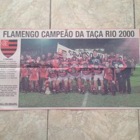 Pôster Jornal Jb Flamengo Campeão Da Taça Rio 2000