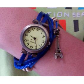 49c2043621d Relogio Feminino Couro Quartz Torre Eiffel - Relógios De Pulso no ...