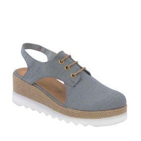 Zapato Vi Line Fashion 2805 Azul De Piel Altura 6cm