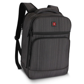 Morral Ejecutivo Swissbrand Gleather Backpack Dark Grey