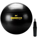 Bola Suíça Pilates 75 Cm Ziva + Bomba 300 Kg