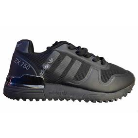 best cheap c61ec d17dd Tenis Modelo adidas Zx750 Negro Total Para Niño