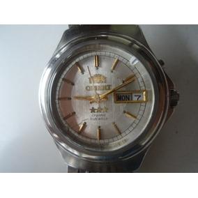4b8f29bde81 Relógio Orient Automático Masculino Antigo Prata Perfeito