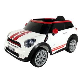 Carro Elétrico Infantil Mini Paceman Branco- 12 V Bel
