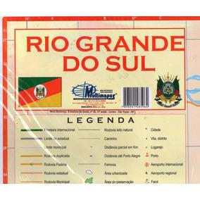 Mapa Estados Brasileiros 120x90cm Papel