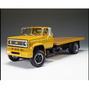 Mini Caminhão Chevrolet Prancha 1975 Highway 61 Yellow 1:16