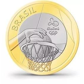 Moeda De 1 Real Basquete Rio 2016