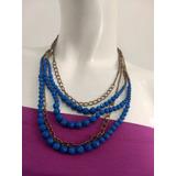 6b8fb8a722f5 Collar Dorado Y Azul en Mercado Libre Argentina
