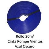 Cinta Rompeviento Azul Oscuro Para Malla Ciclonica 20m2 Ao20