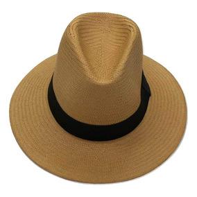 Chapéu Marrom E Bege Moda Panamá Aba Larga Casual Praia 928b4885006