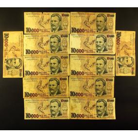 10000 Dez Mil Cruzeiros Lote 12 Cédula Antiga Nacional N0406