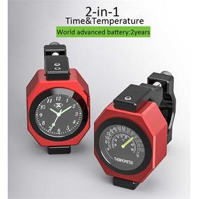 Relógio/termômetro - Temperatura/tempo 2-em-1 Motocicleta