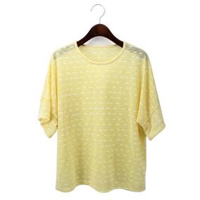 5af3b73214a77 Ropa Dama Blusa Camisa Arrugado Verano Camiseta Amarillo