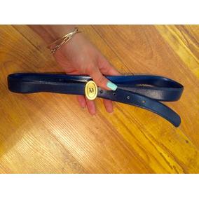Padrisimo Cinturon Christian Dior Piel Azul Acero 100% Origi