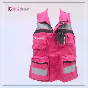 Chaleco De Brigadista Estilo Slim - Color Rosa Mexicano