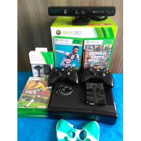 Xbox 360 500gb Destravado Lt3.0 2 Mante Kinect +10 Jogos