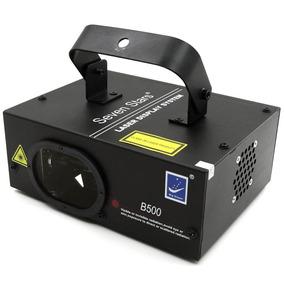 Laser B-500 500mw Bivolt Azul Dmx Com Sensor De Som Strobo