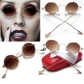 Óculos De Sol Redondo Vintage Dourado (retrô, John Lennon) - Óculos ... 4122607ea1