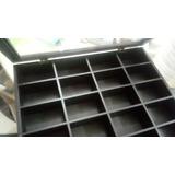 Caja Organizadora Tapa Transparent 45x42 Cm Con 28 Cuadros